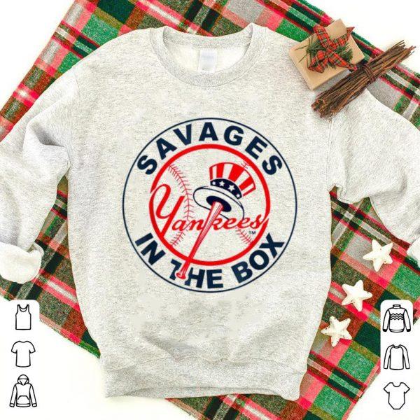 Nice Savages In The Box Yankees Baseball shirt