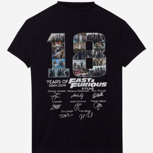Official 18 Years Of Fast And Furious 8 Films Signature shirt