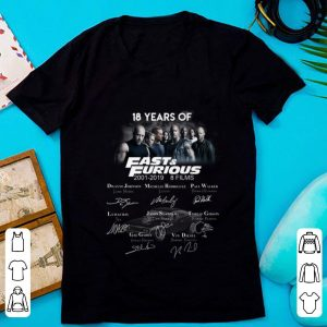 Official 18 Years Of Fast And Furious Signature Character shirt