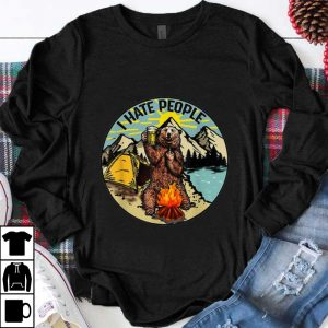 Official Bear Camping I Hate People Drinking Beer shirt