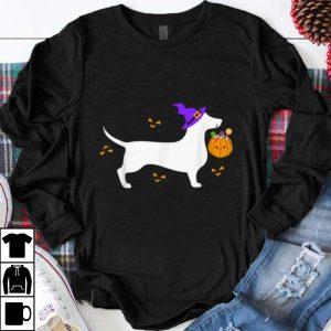 Official Dachshund Halloween Costume Outfit Pumpkin Dog Cute shirt