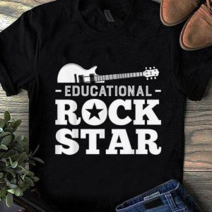 Official Educational Rockstar Rock Guitar shirt