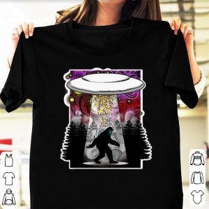 Official Extraterrestrial Flying Saucer Sasquatch Abduction shirt