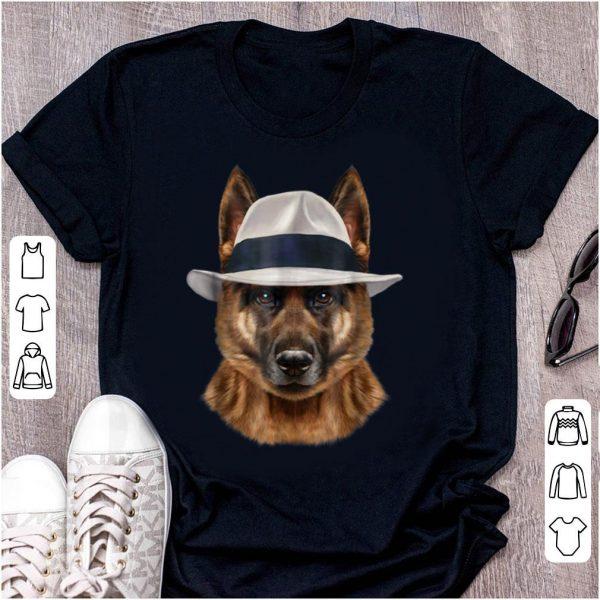 Official German Shepherd Dog in Fedora Hat shirt