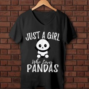 Official Just A Girl Who Loves Pandas shirt