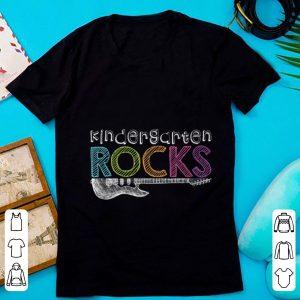 Official Kindergarten Rocks With Guitar Electric shirt