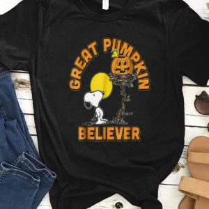 Original Great Pumpkin Believer Snoopy Halloween shirt