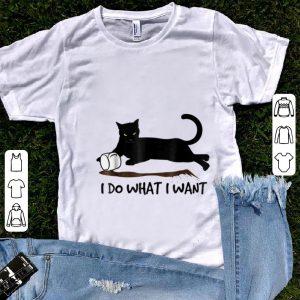 Original I Do What I Want Black Cat shirt