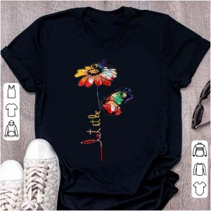 Original Let It Be Colorful Flower And Butterfly shirt