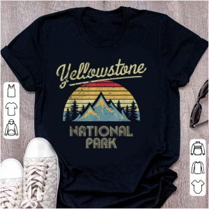 Original Vintage Retro Yellowstone Mountain National Park shirt