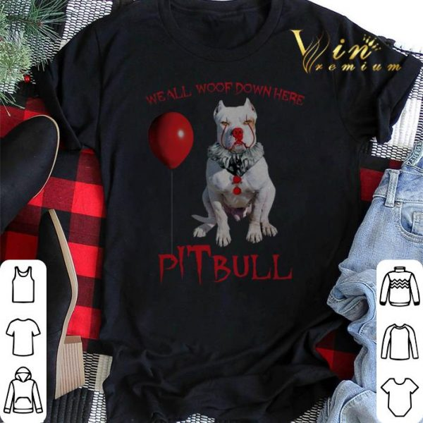 Pennywise pITbull we all woof down here shirt sweater