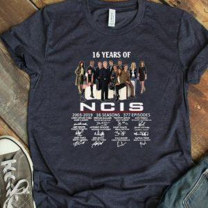 Premium 16 Years Of NCIS 2003-2019 Signatures shirt