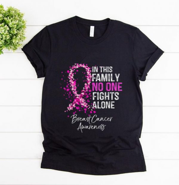 Premium In This No One Fights Alone Breast Cancer Awareness shirt