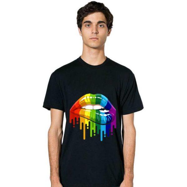 Premium Rainbow Lip LGBT Gay Lesbian Pride shirt
