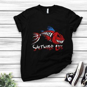 Premium Saltwater Life fishbone American shirt