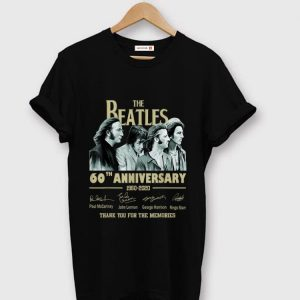 Premium The Beatles 60th Anniversary Thank You For Memories Signature shirt