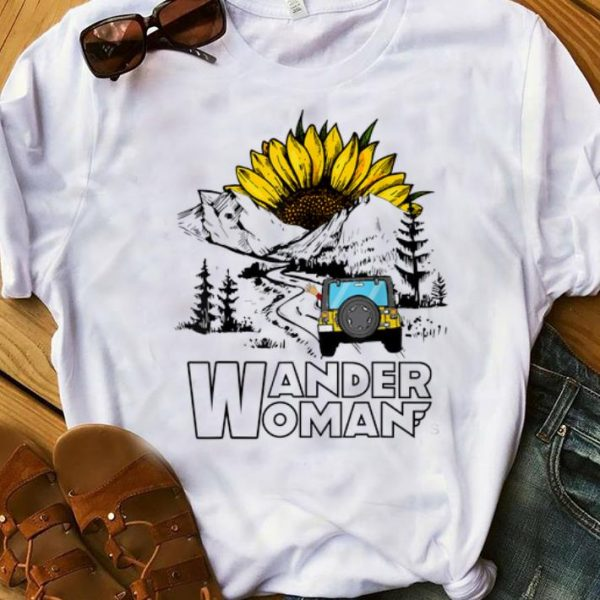 Premium Wander Women Jeep Camping Mountain Sunflower shirt