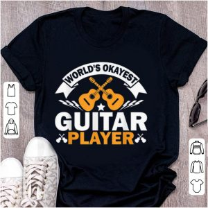 Premium World's Okayest Guitar Player Acoustic Guitar shirt