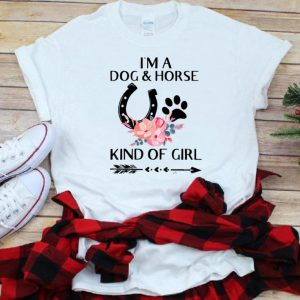 Pretty I'm a Dog and Horse Kind of Girl Paw Flower shirt