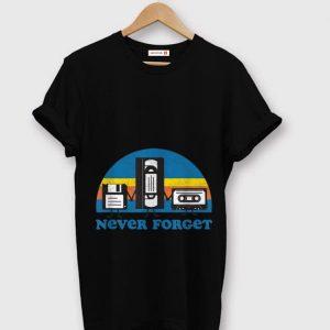 Pretty Never Forget Floppy Disk Cassette Tape shirt