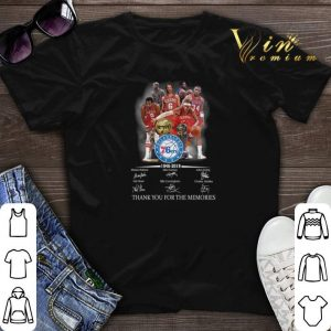 Thank you for the memories Philadelphia 76ers 1946-2019 shirt