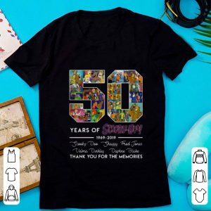 Top 50 Years of 1969-2019 Scooby Doo Signature Thank You For Memories shirt