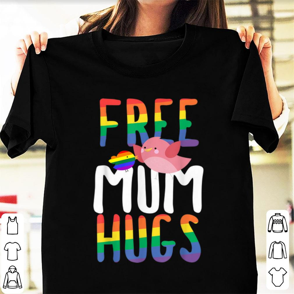 Top Free Mum Hugs LGBT Gay Pride Rainbow Bird Flag shirt 1 - Top Free Mum Hugs LGBT Gay Pride Rainbow Bird Flag shirt