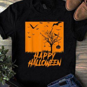 Top Happy Halloween Bats Pumpkin shirt
