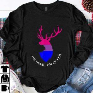 Top Oh Deer I'm Queer LGBT Bisexual Pride