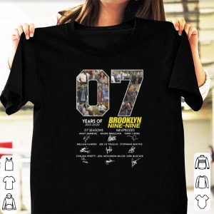 Top Signature 7 Years Brooklyn Nine Nine Years Of 2013 - 2020 shirt