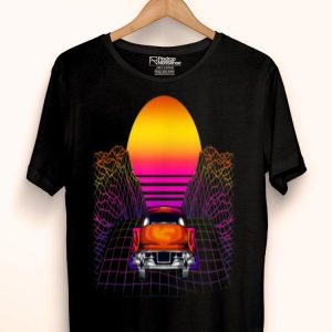 Vaporwave Aesthetic Retro Into The Sun Vaporwave Geometry shirt