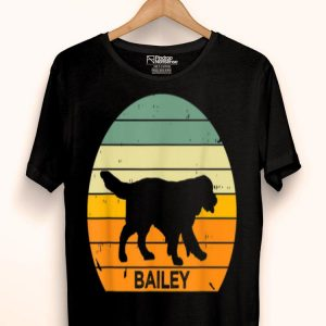 Vintage Sunset Golden Retriever Personalized Bailey shirt