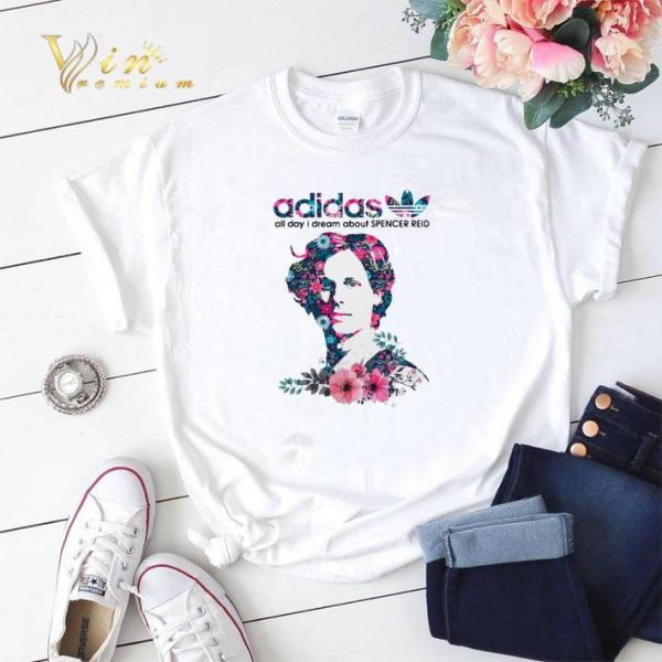 adidas all day I dream about Spencer Reid Flower shirt sweater