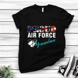 Proud Air Force Grandma American Flag Veteran Day shirt