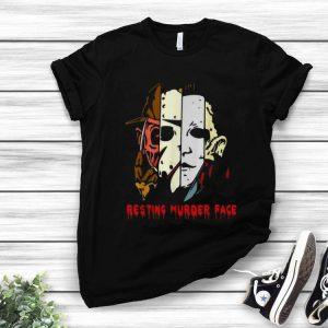Halloween Resting Murder Face Horror Character Face shirt