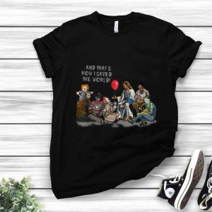 Horror Characters Jesus And That's How I Saved The World shirt