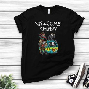 Welcome Campers Camping 80s Horror Movie shirt