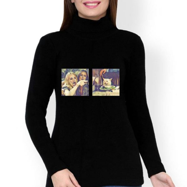 Woman Yelling At A Cat Meme shirt