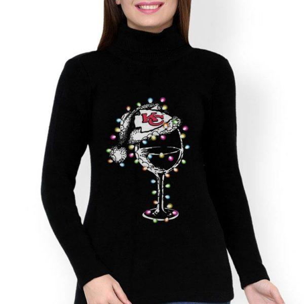 Wine Glass Light Christmas Kansas City Chiefs shirt