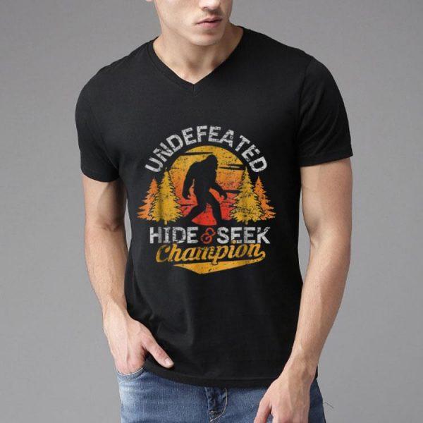 Bigfoot Undefeated Hide & Seek Champion shirt