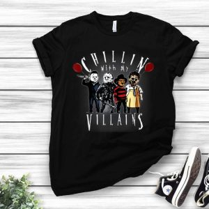 Chillin With My Villains Creepy Halloween Horror Character shirt