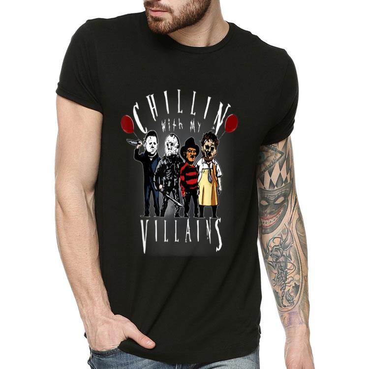 Chillin With My Villains Creepy Halloween Horror Character shirt, hoodie,  sweater, longsleeve t-shirt