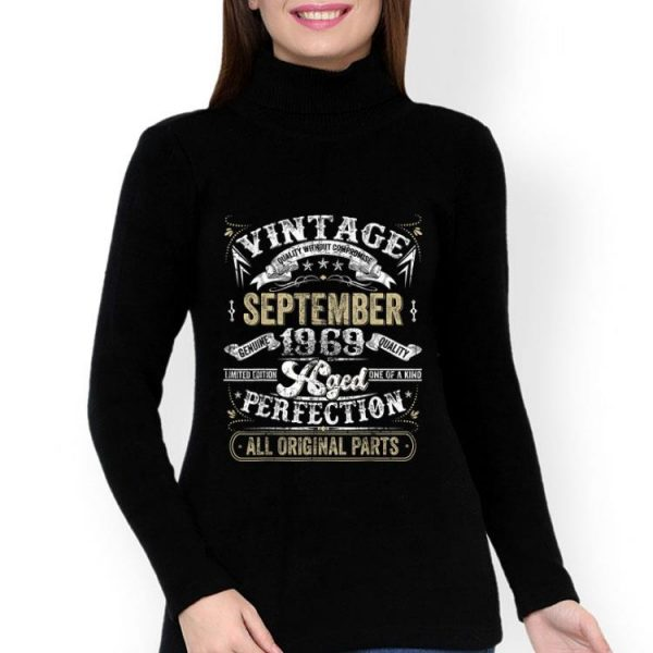 Classic 50th Birthday Vintage September 1969 Perfection shirt