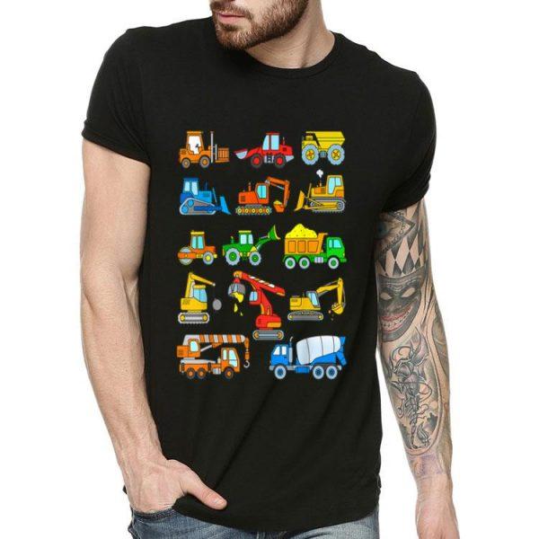 Construction Excavator Truck Cranes Excavator shirt
