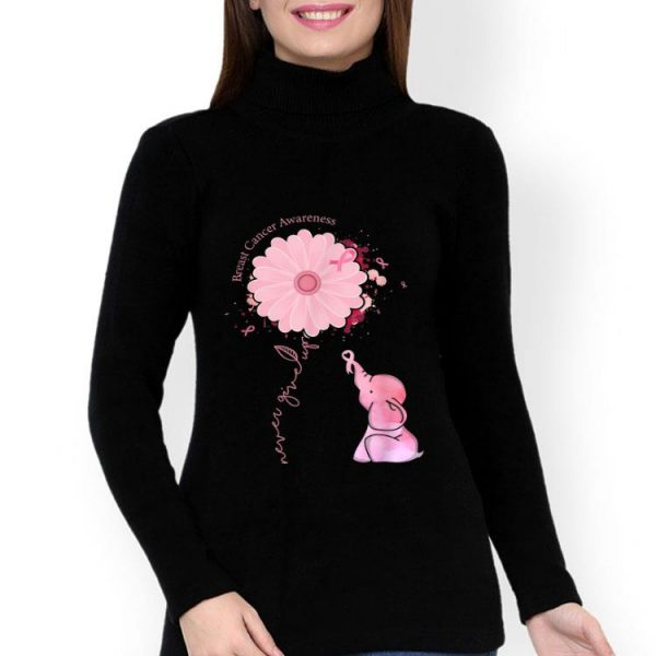 Cute Pink Elephant Pink Ribbon Breast Cancer Awareness shirt