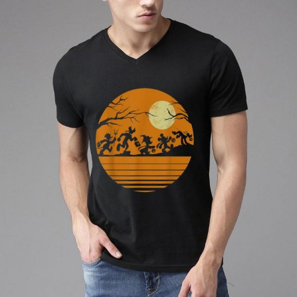 Disney Mickey Mouse And Friends Halloween Vintage Moon shirt