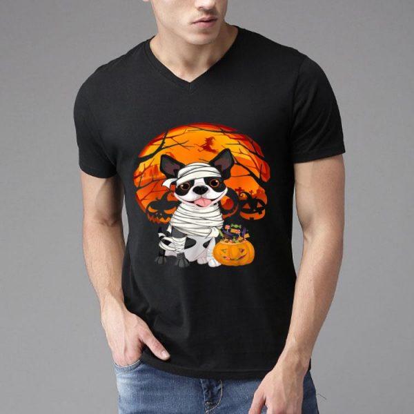 Halloween Boston Terrier Pumpkin Blood Moon shirt