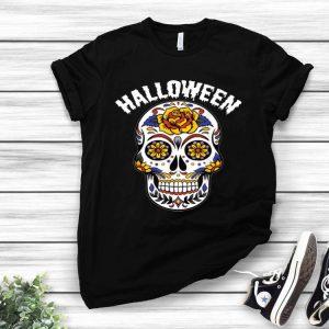 Halloween Calavero Skull Flower shirt