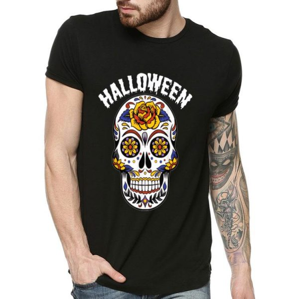 Halloween Calavero Skull Flower shirt