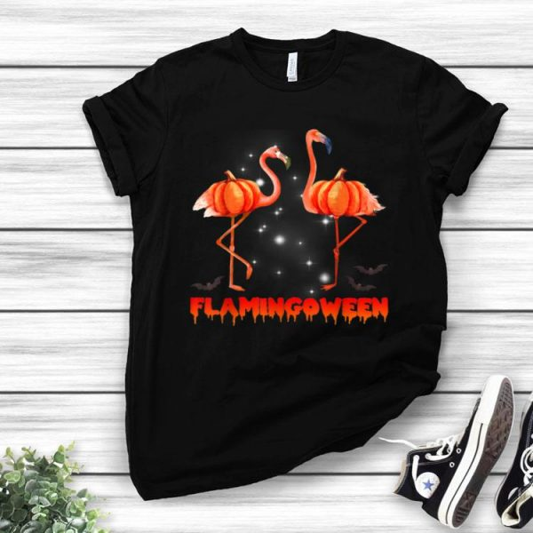 Halloween Custome Flamingo Flamingween Halloween Pumpkin shirt